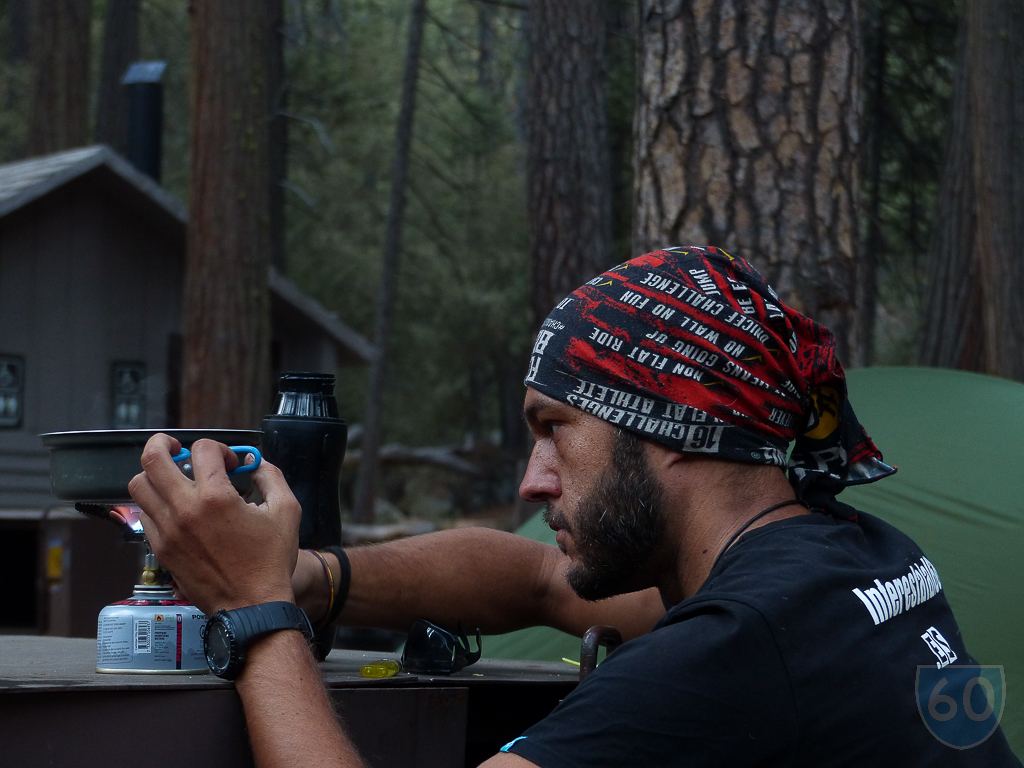 Cocinando en un campground