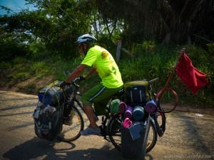 La bici de mi amigo Christian...puro show de más de 100Kg